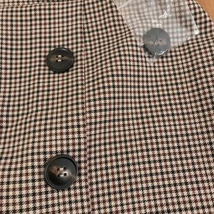 Topshop Skirts - Topshop Checkered Skirt with Buttons